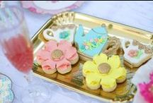 Baby Shower Tea Party / Baby Shower Tea Party Ideas including floral plates, tissue flowers, Cupcake Stands and beautiful Tea party decor deas.  All the party inspiration you will need for a sweet baby shower celebration!