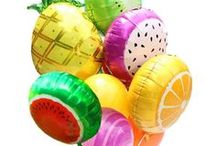 Tutti Frutti Party Ideas / Party Ideas for a Tutti Frutti Party!!!  Including Tropical Party ideas and all kinds of Fruit Party Supplies and Fruit Tableware!  Lots fruit dessert tables and fruity drinks!  Don't miss out on our Pineapple Balloons, and fruit balloons!