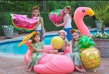 Summer Party Ideas / Summer Party Ideas and inspiration for your pool parties and garden parties including Fruit Balloons, Pineapple Cups, Flamingo decorations, Pineapple tableware and more!