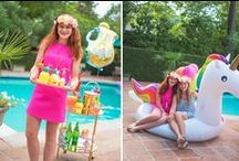 Pool Party Ideas / Pool Party Ideas for summer entertaining!  From tropical decorations to pool floats and pineapple party supplies!  Lots of ideas on how to through a fun pool party!