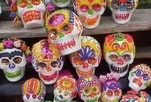 Day of the Dead Halloween Party Ideas / Our Day of the Dead Halloween party ideas board is filled  with all the elements of a fun Halloween Party:  spooky sugar skulls, colorful yet mysterious decor, delicious treats, Day of the Dead decorations, Dia de los Muertos Food and more!!!