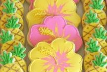 Hawaiian Luau Party / Hawaiian Luau Party Ideas for a girl birthday party or any Tropical celebration!!  All the tropical party decorations and tutti frutti party supplies for a fun luau from hula skirts, leis, hibiscus flowers, Pineapple Cups and more!