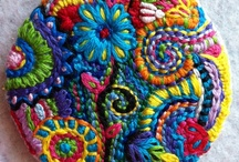 Fiber, fabric and beading art / Examples for inspiration. / by Barbara Weitbrecht