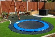 Yard fun / Inspiration for our new backyard. Must be kid friendly! / by Tenille Weir