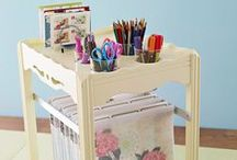 Craft ROOMS   ✿~ Colette's Cottage / Craft Rooms and craft organizing tips! Scrapbooking, stamping  and paper organizing