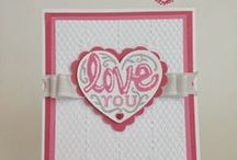 Valentine cards ♥  crafts ✿~ Colette's Cottage / Cards, tags and valentine crafts!  see also heart board
