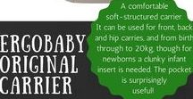 Baby gear / Practical and fun baby gear to make life easier when baby-wrangling