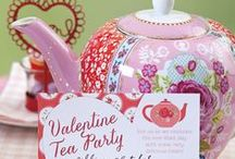 Valentine Tea Party @ColettesCottage / Valentine Tea Party food and decor