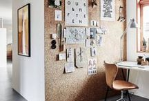 Home office inspiration / As a new business owner you often find yourself working in a home office or in a small space. Make your work space beautiful!