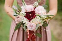 Weddings // Marsala / Wedding theme and style inspiration for  Pantone colour of the year Marsala