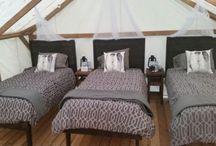 Glamping Cabins / A sneak peak of the glamping cabins at Pura Vida Soul Institute Inc. www.puravidamuskoka.com