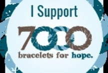Bracelets I Have Made and Donated to the Global Genes / Rare Project Organization