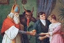The Devil of Christmas / Folklore at it's best!  Accompanying Saint Nicholas on his yearly journey, Krampus would collect all of the bad children while Saint Nicholas rewarded all of those who were good throughout the year. / by Benjamin Bradley