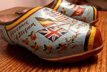 "Wooden Shoes / I collect wooden shoes, mainly handpainted and carved ones from Belgium, Holland and France made around WW2. But, here on the lovely Pinterest, I will ""collect"" any that are especially nice!"