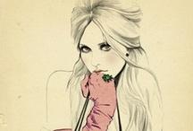 visions  / art colour mood fabric illustration captions sayings tones volume