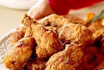 Fried and True / So darn bad for you yet so darn good to eat.  Fry anything in fat and you have a tasty meal!  Some things are ALMOST as good oven baked so we'll give them a try too.