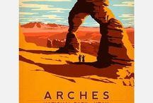 Vintage US National Park Posters (parks I´ve been to)