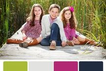 Miroslavich Photography: Color Palettes. / Color coordinating ideas for photo sessions.