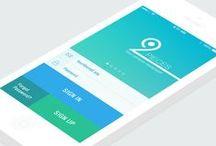 Mobile UI - Login / Inspiration pour écran d'identification / inscription
