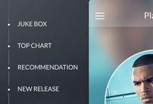 Mobile UI - Menu / Inspiration pour menu / navigation