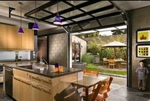 Garage Doors Used In Interior Spaces / Not all garage doors need to be used for your garage. Think outside the box and find a garage door to suit your interior design and application needs. Here's a few of our favorite ideas!