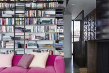 Homes for Books / Bookshelves. Bookcases. Walls of books. Books. / by Annelise