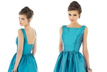 Alfred Sung / Contemporary style bridesmaid dresses that give variety for mix and match bridesmaids. You can even find some 1950's inspired bridesmaid dresses.  / by Raffiné Bridal and Formal Wear