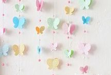 Christina's Baby Shower / What do you ladies think about going with Pink & Grey for the colors?  After seeing Casi's pin with the butterflies, I think that would be a super cute theme!  Keep the pink/grey colors, but maybe add in a little yellow & lavender with the butterflies. / by Holly Walker Owen