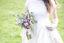 bohemian bride inspiration / bohemian bride, romantic lace wedding dress, floral crown bridesmaids, bohemian wedding ideas / by plenty to declare photography