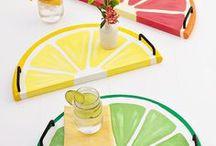 DIY : motif citron / Les motifs citron et pamplemousse sont tendances ! Retrouvez des tutoriels pleins d'imagination; acidulés à souhait ! #citron #citrus #pamplemousse #grapefruit