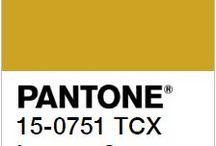Lemon Curry - couleur tendance automne hiver 2017/2018 - Pantone / Exotique et épicée, elle vient réchauffer et donner du piquant aux jours froids et gris. C'est une couleur qui rappel les voyages et l'aventure. • Quoi de mieux qu'un pompon moutarde pour ensoleillé un bijou ?