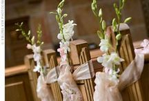 Wedding pew decorations