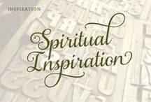 Spiritual Inspiration / Words. Letters. Fonts. Signs. Type.
