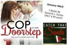 COP ON HER DOORSTEP by Karen Docter / Jake Sefani's Book: True Love In Uniform Series, Book One, contemporary romance