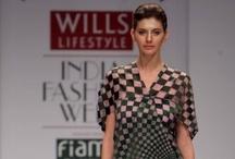 "Pankaj & Nidhi / Collection of ensembles presented by Pankaj & Nidhi at ""Wills Lifestyle India Fashion Week"" from 2009 onwards."