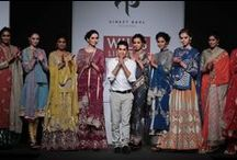 Vineet Bahl at WIFW AW'14 / Vineet Bahl brings the festive season with vibrant colours and dazzling gold detailing.