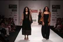 Kiran & Meghna at WIFW AW' 14 / Morocco aesthetics inspired a set of stunning bold hues and pastel contrasts in the very wearable 'Myoho' collection by Kiran and Meghna
