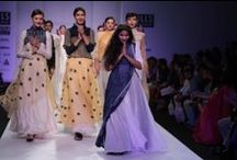 Vaishali S at WIFW AW' 14 / Gauzy layers, woven silks and coded cotton​ consisted of a gorgeous collection by Vaishali S.