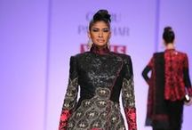 Charu Parashar at WIFW AW '14 / Traditional Indian embroidery and Indian applique work in a westernised new avatar showcased by Charu Parashar.