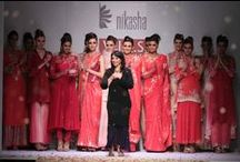 Nikasha at WIFW AW '14 / Nikasha kept the festive colour palette going with hot pinks, fiery oranges and vibrant reds in silks and chiffons.