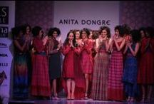 Anita Dongre at WIFW AW '14 / Anita Dongre stole the show with a very wearable collection of a palette of greys and earth colours, with a hint of tribal chic.