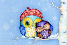 Owl cuteness! / by Drea Davi