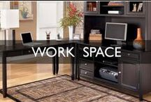 Work Space Design Inspiration / From decorating a home office all the way to creating a small work space in an existing room...This board has creative ideas and solutions for both.