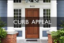 Curb Appeal Design Inspiration / Porches, fences, gardening and even samples of different front door colors and styles; this board has creative ideas to spruce up the front of your home.