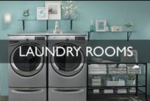 Laundry Room Inspiration... / Laundry room design ideas to utilize the space in the most efficient way as well as making appealing to the eye.