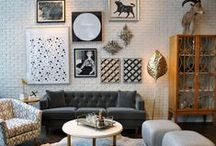 77 Wooster St - Flagship Store / Design inspiration straight from our flagship store in the heart of Soho, NYC. What you'll find: décor, design inspiration, fabric, mirror, desk, stool, bar cart, bench, ottoman, dresser, pouf, coffee table, pillow, sheepskin, wallpaper, living room, bedroom, gift ideas, decorating, home, master bedroom. / by DwellStudio