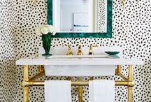 Dans La Salle de Bain / The most glamorous bathrooms we've ever seen. What you'll find: bathroom ideas, bathroom tile, backsplash ideas, mirrors, shower design ideas, shower curtains & more. / by DwellStudio