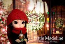 My Little Pullip Doll / Przedstawia fotografie i stylizacje maleńkich lalek Pullip 14cm. Głowa Little Pullip Miss Green i Romantic Alice+ body Obitsu 11cm. Little Pullip. Faschion Doll. Świat lalek. Little Madeline . Pullip Doll. Pullip World