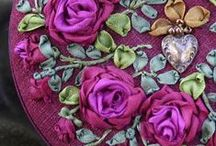 Silk Ribbon Embroidery / I've always been amazed how a little bit of ribbon can be turned into a beautiful flower. / by Anne Davies