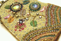 Bead Embroidery / Beading on fabric is a wonderful form of beading.  Lovely things happen with the mixture of the two. / by Anne Davies